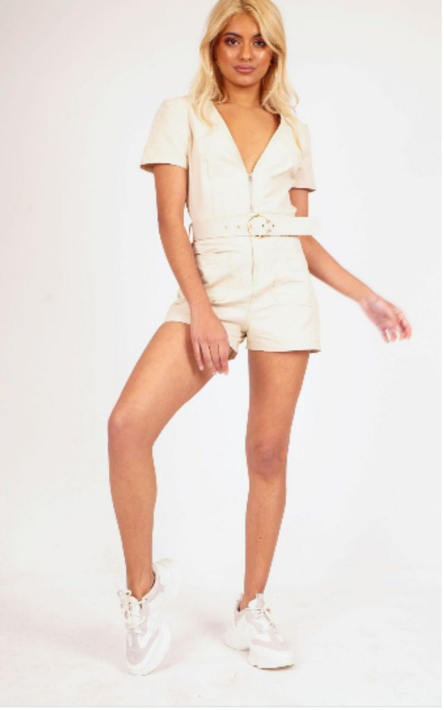 Utility Pocket Zip Playsuit by Hachu