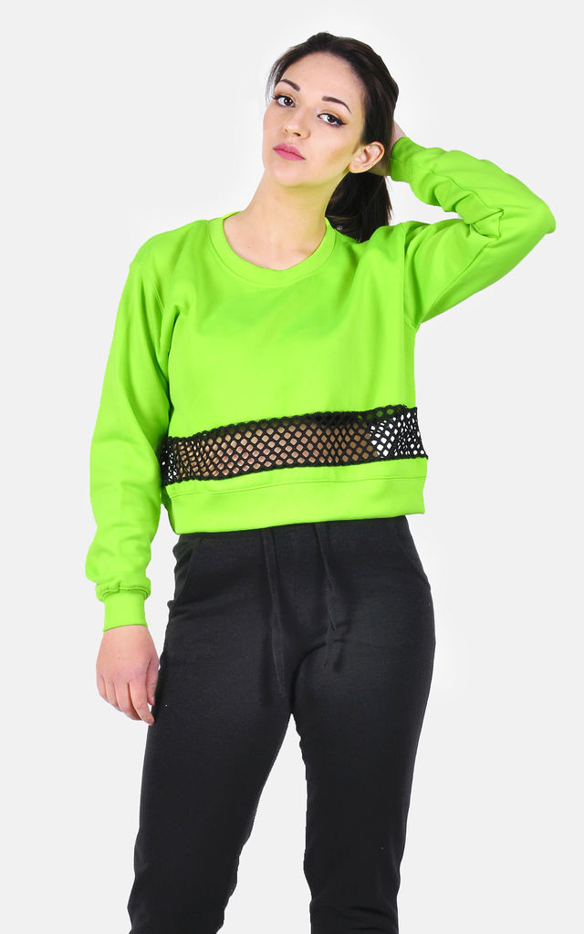 Fluorescent Neon Green cropped sweatshirt by The Left Bank