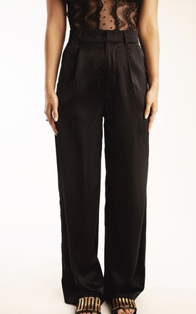 Boundless black straight leg trousers by Storm Label