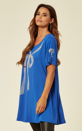 Bow Design Swing Top in Blue by Malissa J Collection