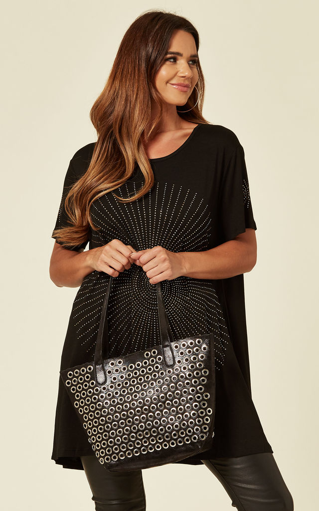 Eyelet Bag With Inner Bag by Malissa J Collection