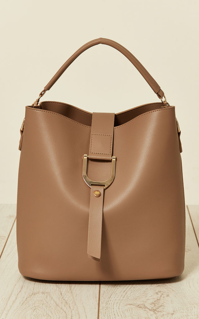 Sporty Style Bag in a Bag in Taupe by Malissa J Collection