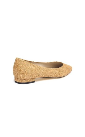 Gloria Gold Glitter Ballet Pumps by Susana Cabrera Shoes