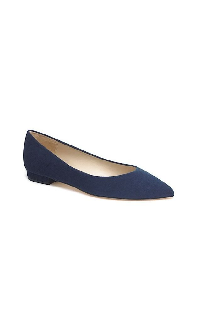 Gloria Navy blue ballet pumps by Susana Cabrera Shoes