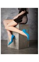 Mia High Heel Court Shoes in Blue by Susana Cabrera Shoes