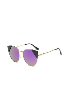 Stephanie Cat Eye Mirror Purple Sunglasses by Don't Be Shady