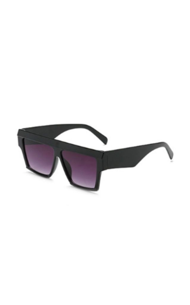 Alice Flat Square Black Sunglasses by Don't Be Shady