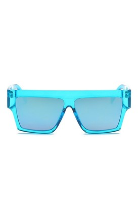 Alice Flat Square Blue Sunglasses by Don't Be Shady
