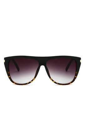 Gemma Square Oversized Black-Leopard Sunglasses by Don't Be Shady