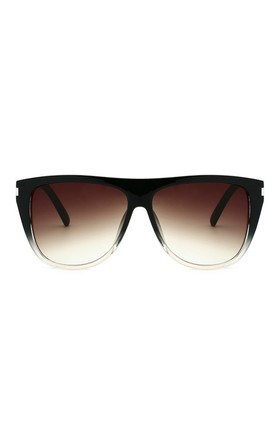 Gemma Square Oversized Black-Clear Sunglasses by Don't Be Shady
