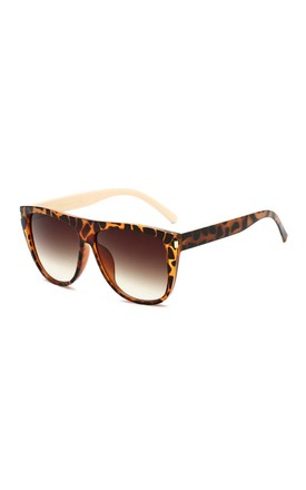 Gemma Square Oversized Leopard Sunglasses by Don't Be Shady
