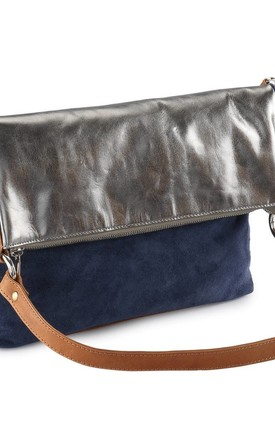 Metallic Multi Purpose Bag in Grey Navy by hydestyle london
