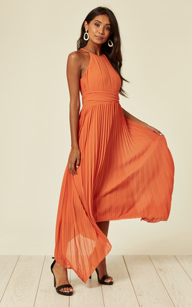Morely Orange Hi-Lo Maxi Dress by TFNC