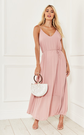 Dusty Pink Pleated Cami Maxi Dress by Bella and Blue Product photo
