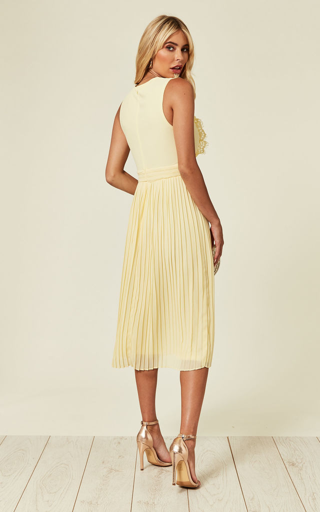 Neicy Pastel Yellow Midi Dress by TFNC