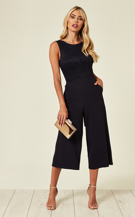 Nina Navy Lace Top Culottes by WalG