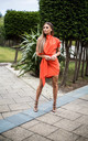 Orange Callie Tailored Wrap Dress by Rag & Doll