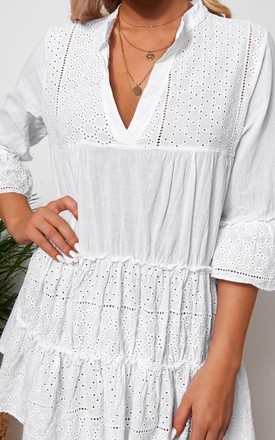 ZARA WHITE BRODERIE SMOCK DRESS by The Fashion Bible