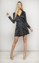 MARLEY DRESS IN BLACK SPECKLE by Dancing Leopard