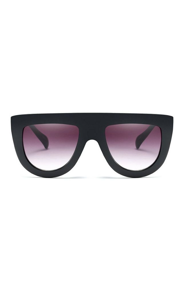 Jade Flat Top Oversized Black Sunglasses by Don't Be Shady