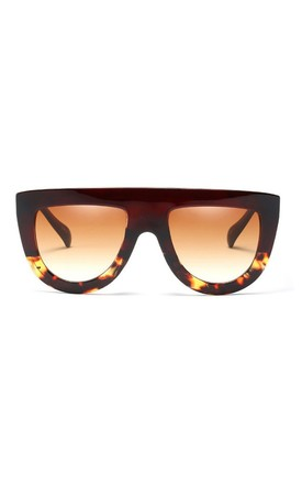 Jade Flat Top Oversized Black-Leopard Sunglasses by Don't Be Shady