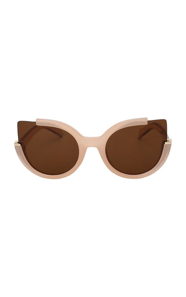 Jessica Cut Out Cat Eye Brown Sunglasses by Don't Be Shady