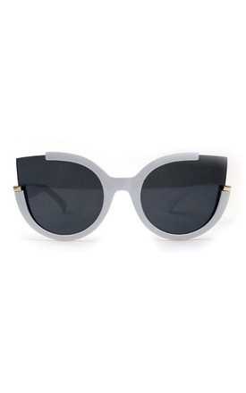 Jessica Cut Out Cat Eye White Sunglasses by Don't Be Shady