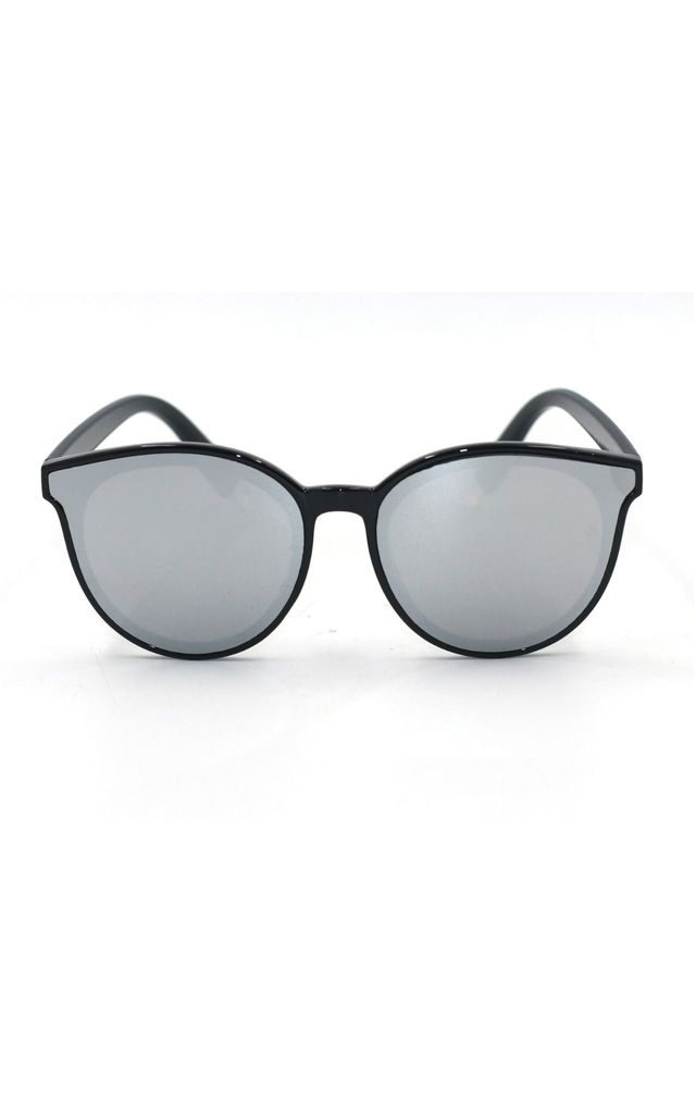 Ame Mirror Cat Eye Silver Sunglasses by Don't Be Shady