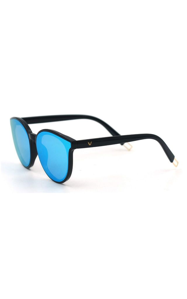 Ame Mirror Cat Eye Blue Sunglasses by Don't Be Shady