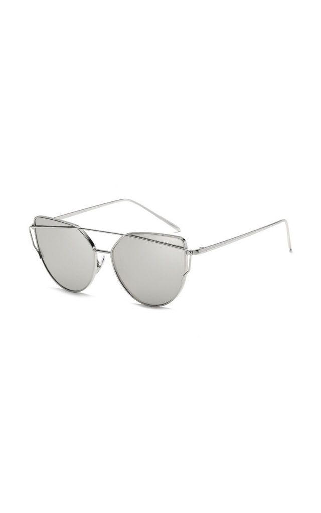 Lucy Mirror Cat Eye Silver Sunglasses by Don't Be Shady