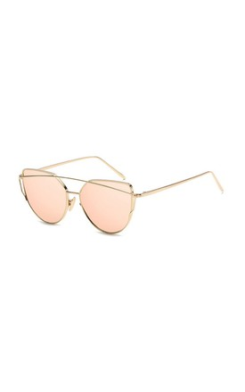 Lucy Mirror Cat Eye Orange Sunglasses by Don't Be Shady