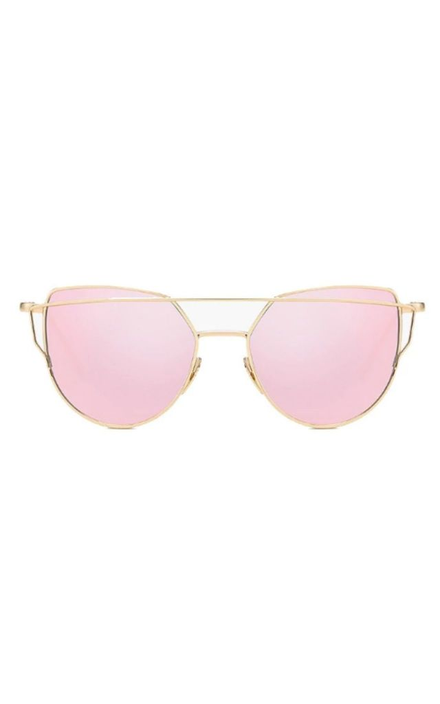 Lucy Mirror Cat Eye Pink Sunglasses by Don't Be Shady