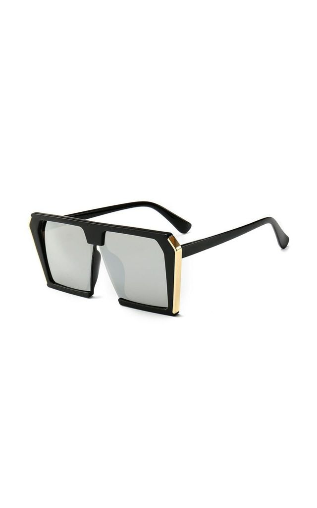 Sienna Large Square Silver Sunglasses by Don't Be Shady