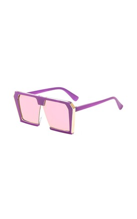 Sienna Large Square Purple Sunglasses by Don't Be Shady