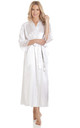 White Long Satin Dressing Gown by BB Lingerie
