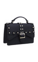 PEARL STUDDED BUCKLE CROSSBODY BAG BLACK by BESSIE LONDON
