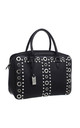 PEARL STUDDED EYELET TOTE BLACK by BESSIE LONDON