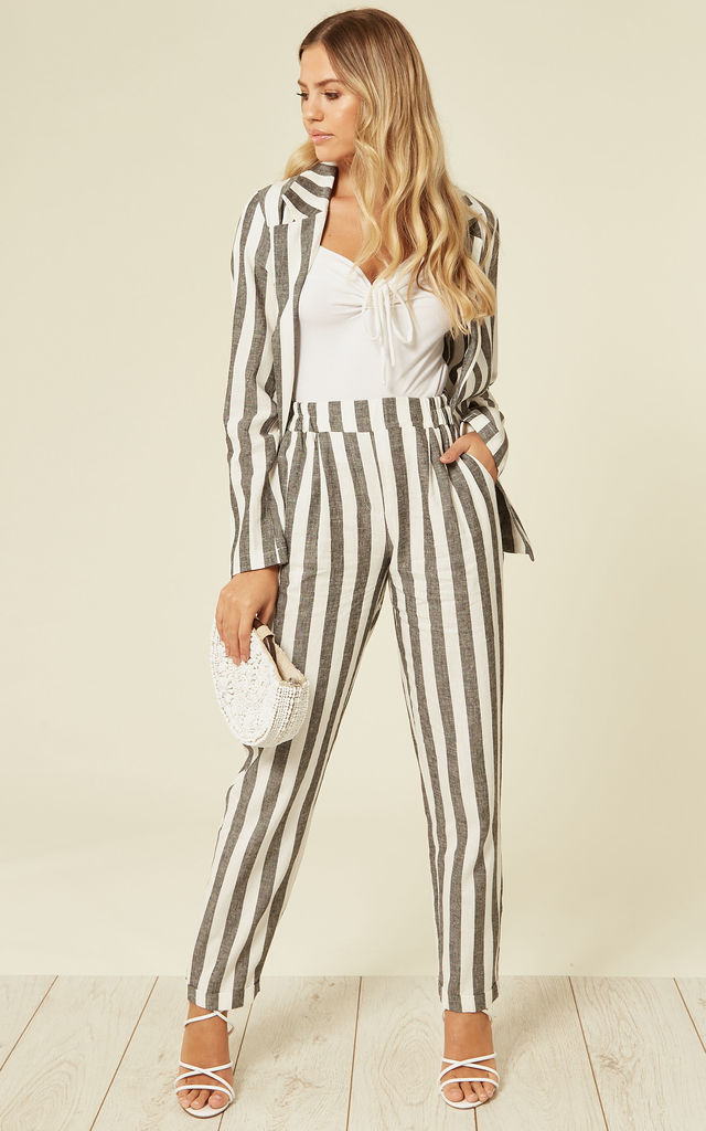 Jacket In Black And White Stripes by Lucy Sparks