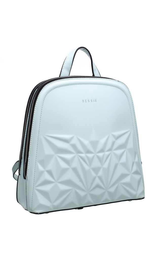 3D PATTERN STRUCTURED BACKPACK in GREEN by BESSIE LONDON