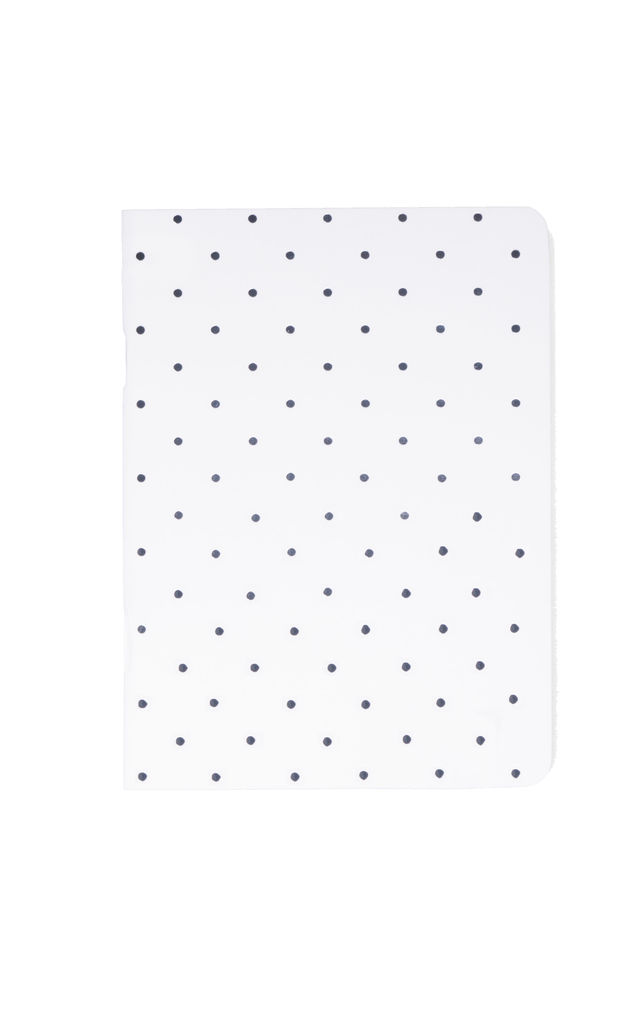 Polka Dot White 3 Mini Notebooks by A Gift From The Gods