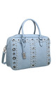 PEARL STUDDED EYELET TOTE BLUE by BESSIE LONDON