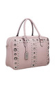 PEARL STUDDED EYELET TOTE PINK by BESSIE LONDON