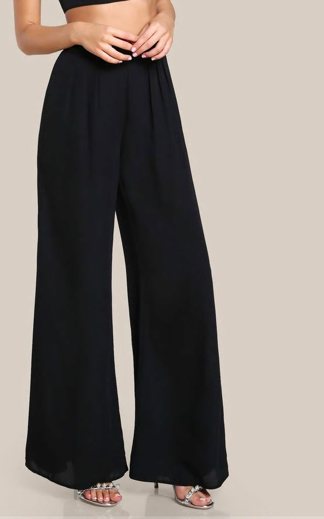 CLASSIC BLACK PALAZZO PANTS by Love Modest Fashion