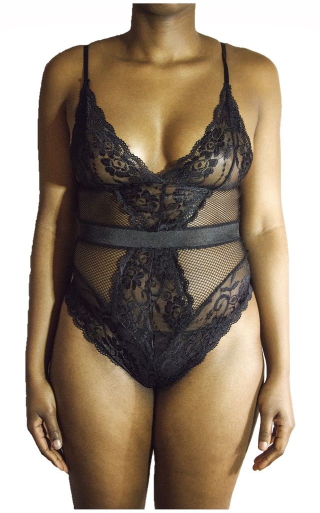 Kiss Me Bodysuit Black by Séduire Lingerie