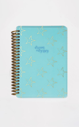 Dream Odyssey Teal A6 Spiral Notebook by A Gift From The Gods