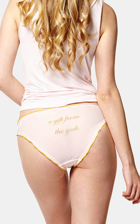 Pack of 3 Frilly Embroidered Briefs by A Gift From The Gods
