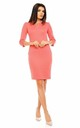 Pencil Midi Dress with 3/4 Sleeves in Pink by Bergamo