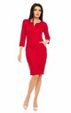 Pencil Midi Dress with 3/4 Sleeve in Red by Bergamo