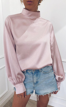 Exclusive Elsie Blouse Pink by Pretty Lavish Product photo
