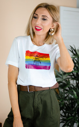 Rainbow Bee Pride Graphic T shirt by Rock On Ruby